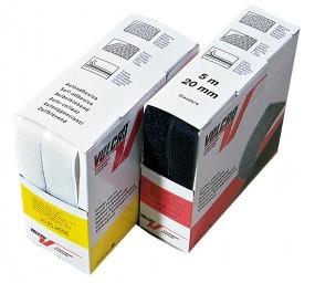 Velcro Haken und Flausch 5 m Box SK weiß