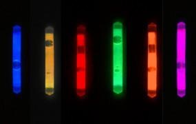 Knicklicht, 3,9 cm, Box mit 40 x 2 Stück 6-Farben-Mix
