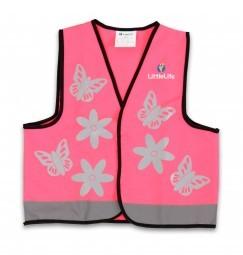 LittleLife Sicherheitsweste pink, S